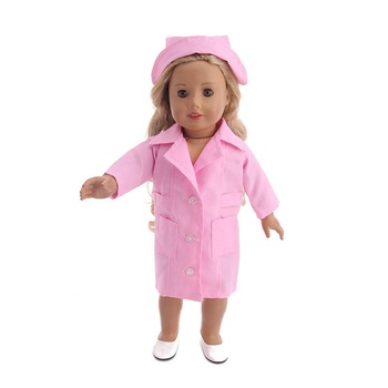 Hot Selling Creative Baby First Play Toys Set 18 Inch Doll Nurse Suit Nurse Accessories Toys Set