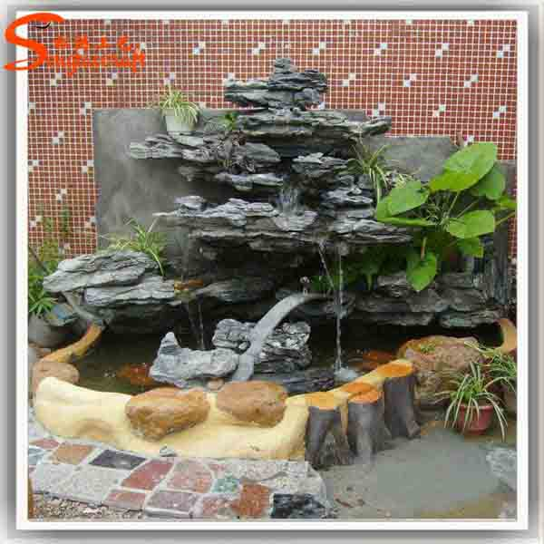 Home waterfall fountains decorative glass indoor fountain and waterfalls  indoor artificial waterfall fountain statues