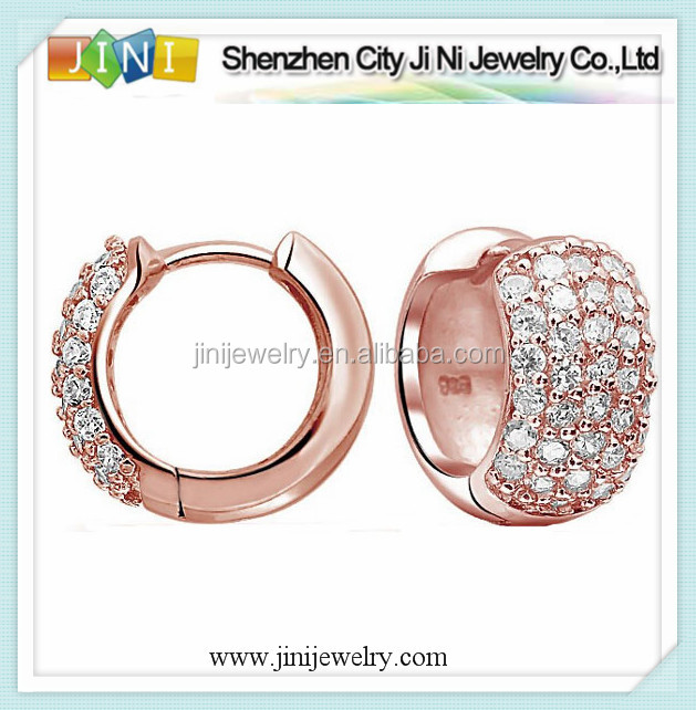 rose gold huggie hoop for women