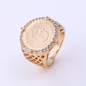 11894 Ring Men 2016 Manufacture Copper Jewelry with 18k Gold Plated Ring for mens