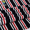 low price Color stripe waffle Red Black 100% rayon fabric