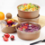 OEM orders acceptable custom round craft paper bowl for salad food