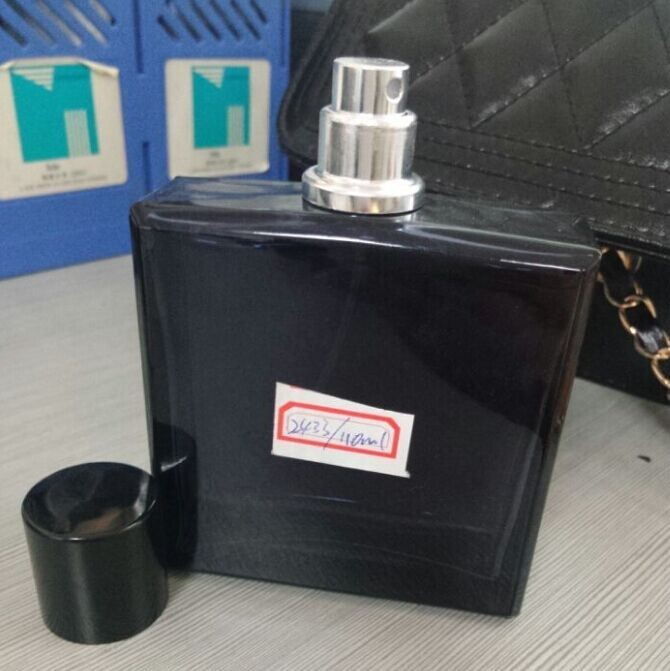 110ml square glass perfume bottle cologne for men with aluminum pump sprayer