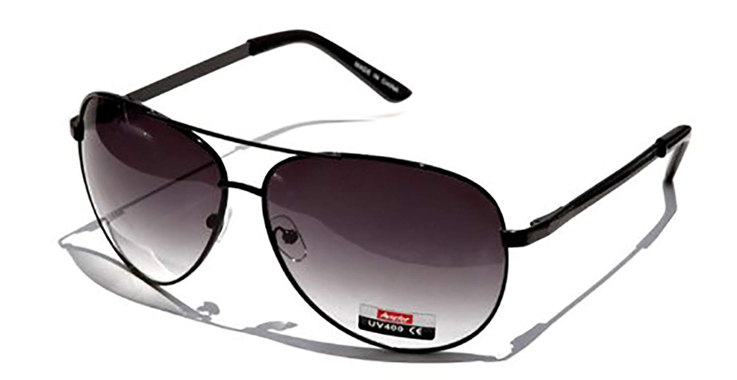18c4d349ec9d Get Quotations · Classic Black Aviator Sunglasses for Men-m5007