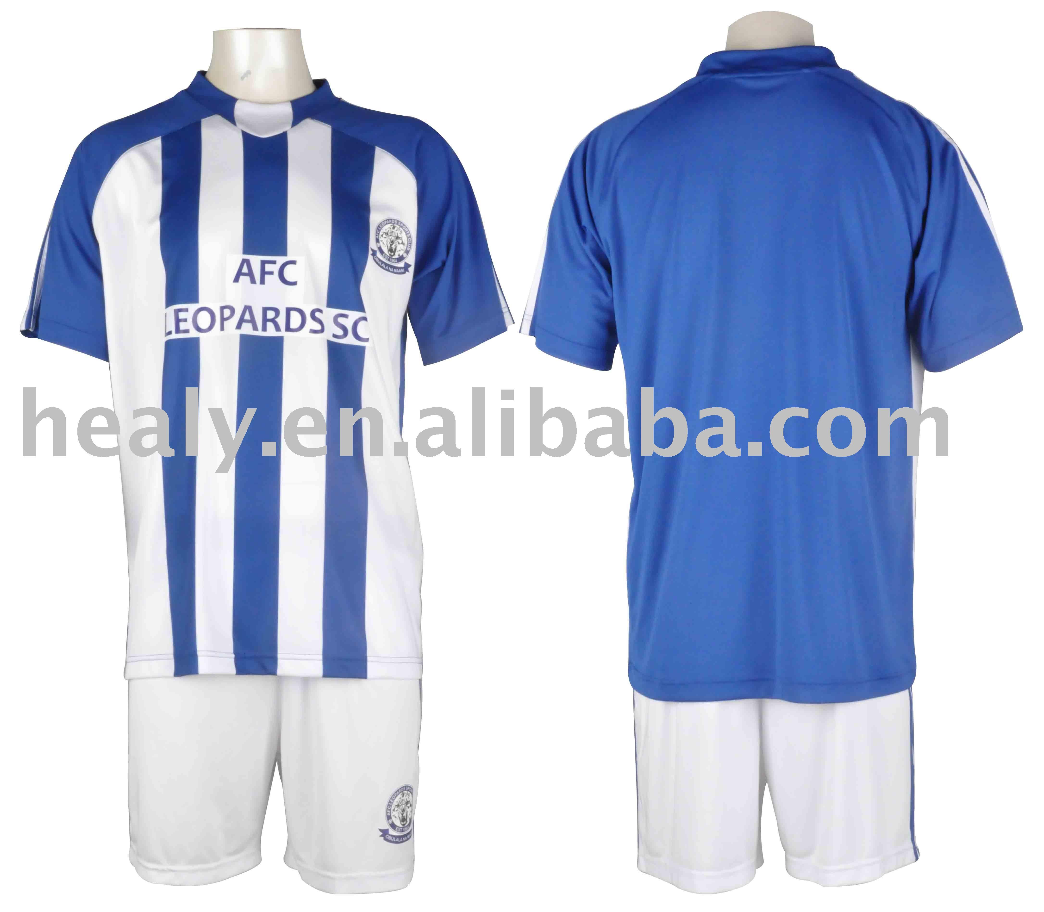 Profesional Azul Y Blanco Fútbol Uniformes Equipo Conjunto - Buy ...