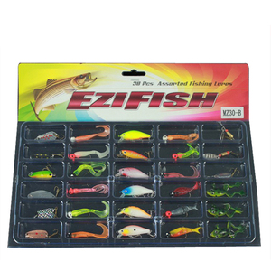 fishing lure Spinner Baits spoon card set 24pcs fishing lure
