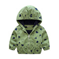 MS75002B Kids spring with hood zipper up jackets