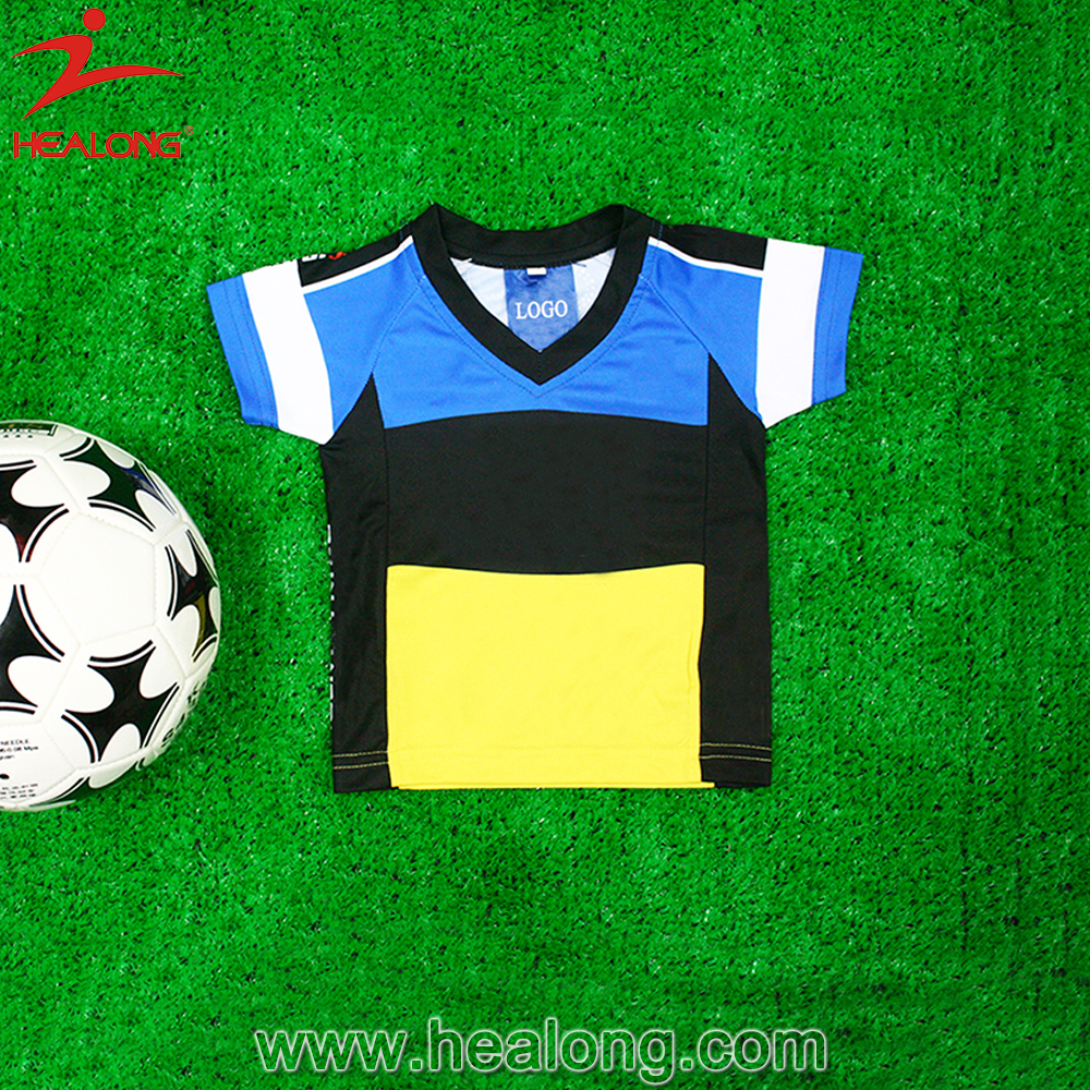 european style sublimation digital print classic football shirt