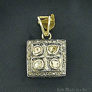 Victorian Estate Pendant, 30 cts Sliced Diamond With 0.40 cts of Diamond as Accent Stone (DR-12075)