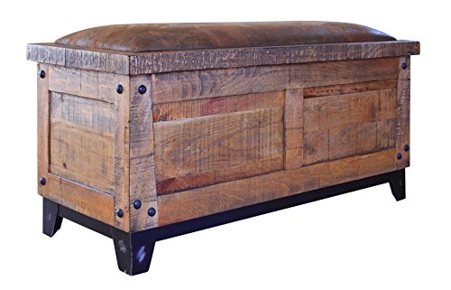 Rustic Elliot Bedroom Storage Trunk Solid Wood Lodge Shabby Chic