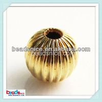 Beadsnice ID 26096 Gold Currugated bead GF 14/20 14k gold filled