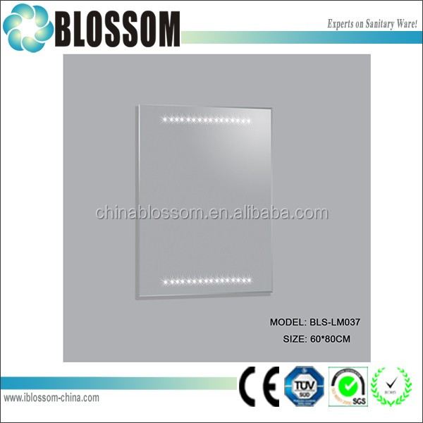 Contemporary 5mm led bathroom mirror with light