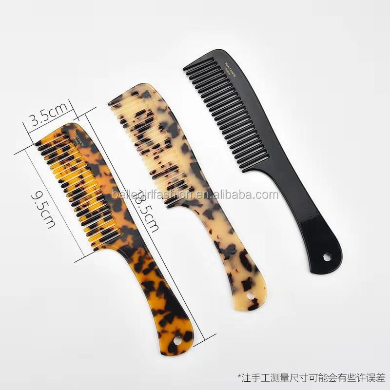 2018hot sale acetate material comb for women and girls