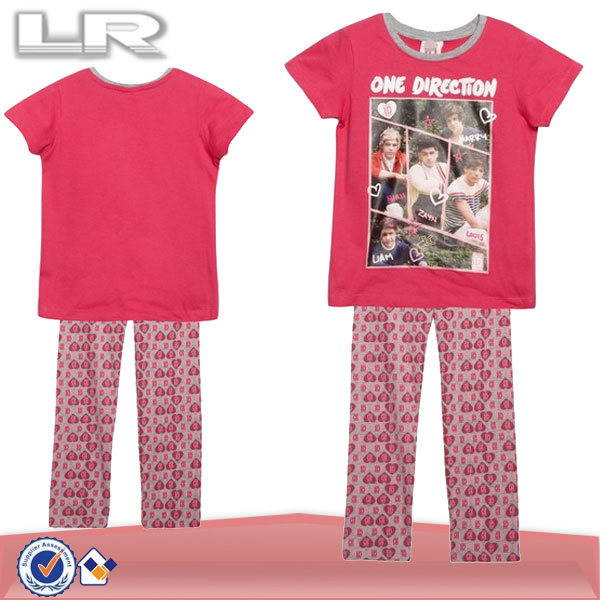 7419cbb08 Children Cotton Fancy Pajamas Set Girl s Pink Christmas  Pyjama ...