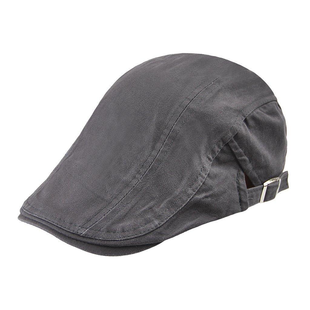 672bcd754407c Get Quotations · RUIXIB Beret Lightweight Casual Classic Beret Men  Breathable Summer Hat Beret Cap Cabbie Flat Cap Driving