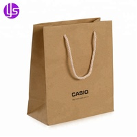 Wholesale Cheap Decorate Eco Friendly Personalized Small Brown Craft Paper Bag with Handles