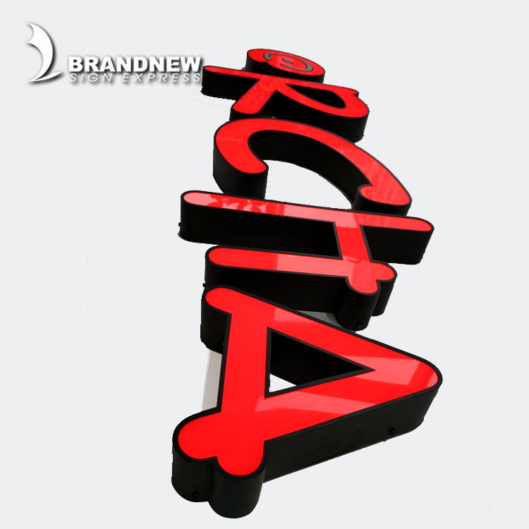 Vacuum Forming 3d Plastic Acrylic Alphabet Letter 3D Led Outdoor Sign