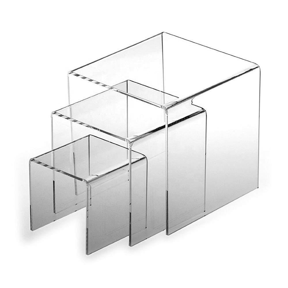 1 x 3 passo livello grandi trasparenti acrilico Perspex dettaglio Contatore Display STAND ALZATA