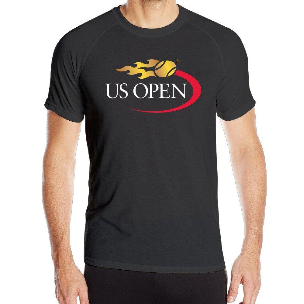 c8f8a7079f Get Quotations · 2016 US OPEN Tennis Logo Mens Offensive Band Logo Print  Quick-Dry Shirt Running Lightweight