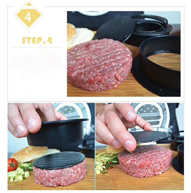 Yapışmaz burger presi plastik hamburger patty maker
