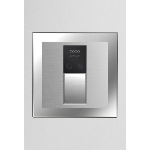 Toto TEU3GN21#SS 4-Inch by 4-Inch Concealed Sensor Urinal 1.0-GPF Flush Valve, 1-1/4-Inch V.B, Stainless Steel