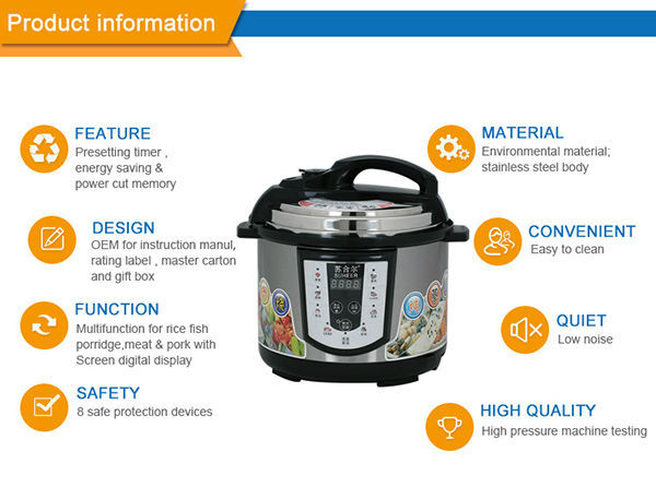 china big electric pressure cooker with temperature control
