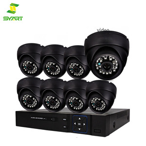SYART Factory 8ch CCTV Camera DVR Security System Kit Inc Outdoor Bullet Camera and H.264 DVR with Mobile and Network Access