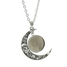 JOINBEAUTY винтажное стеклянное ожерелье лучших друзей и кулоны цветное модное ожерелье с изображением Луны изящное ювелирное изделие ST108(Китай)