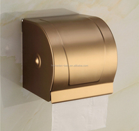 Gold Antique Toilet Waterproof Paper Holder Roll Tissue Case With Cover Dispenser