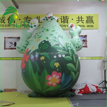 Green Inflatable Cartoon Characters Model 0.25mm PVC For Commercial Advertising