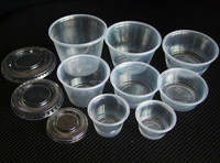 Factory Price 0.75oz 1oz 2oz 3oz 4oz 5oz Clear PP Plastic Jam Sauce Cups Disposable Containers with PET Flat Lids