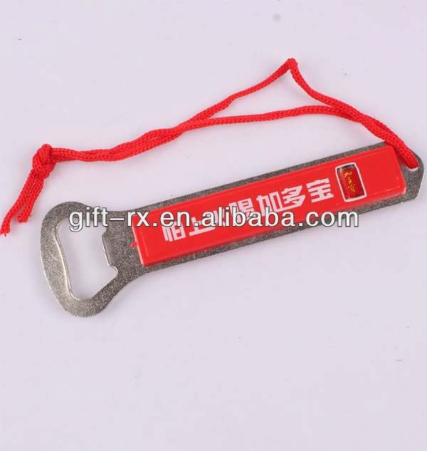 beer bottle opener with textile string