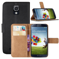 Genuine Leather Wallet Case Cover for Samsung Galaxy S4 I9500