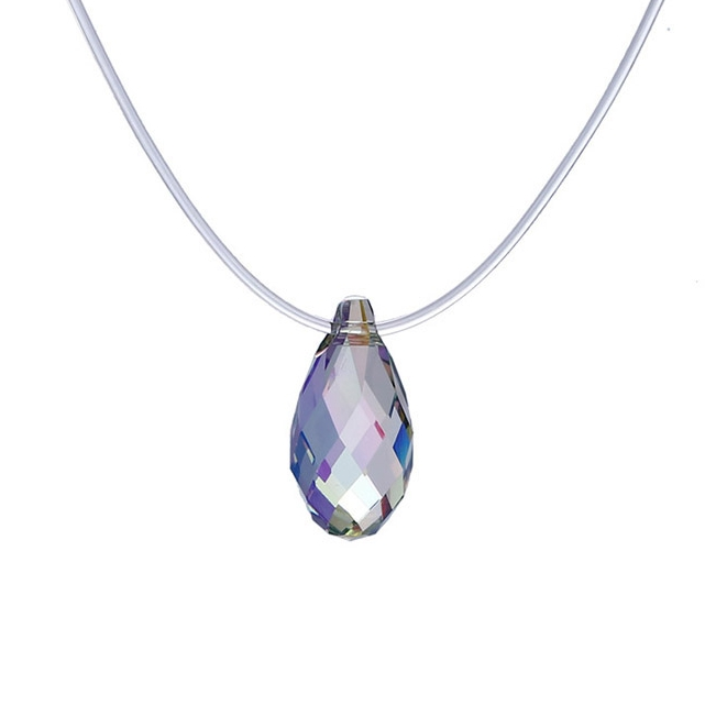 00366 xuping necklace 결정 from Swarovski, simple single 돌 luxury european designs 패션 섬세한 숙 녀 jewellery