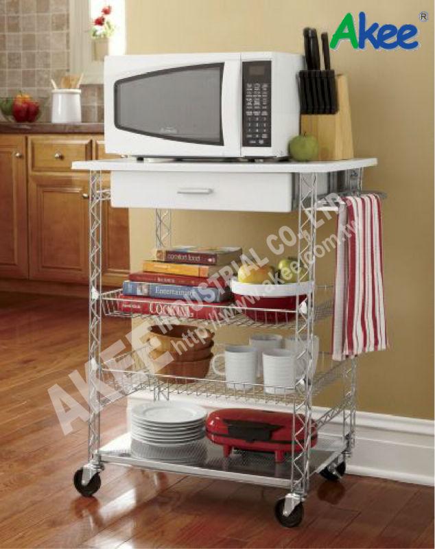 Carrelli da cucina moderne di rotolamento che serve carrello ...