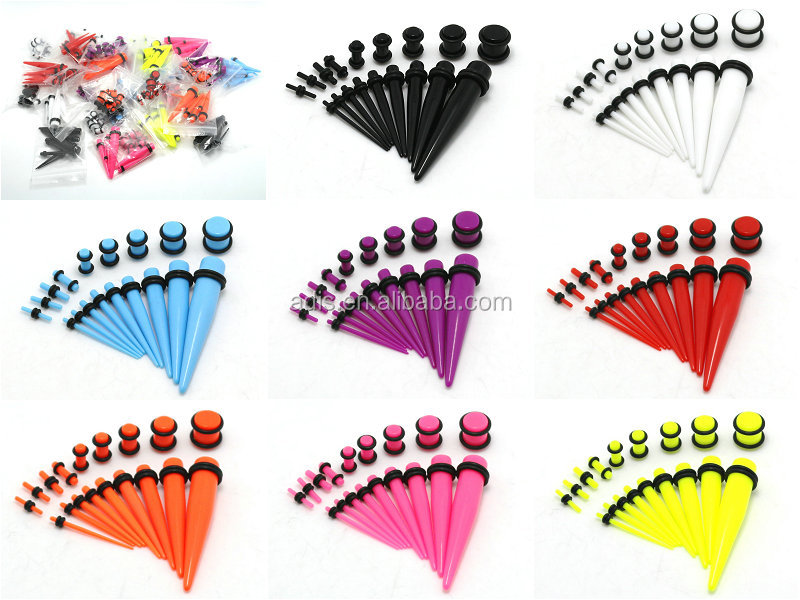 stretching uv acrylic taper 30mm and 14g tapers candles