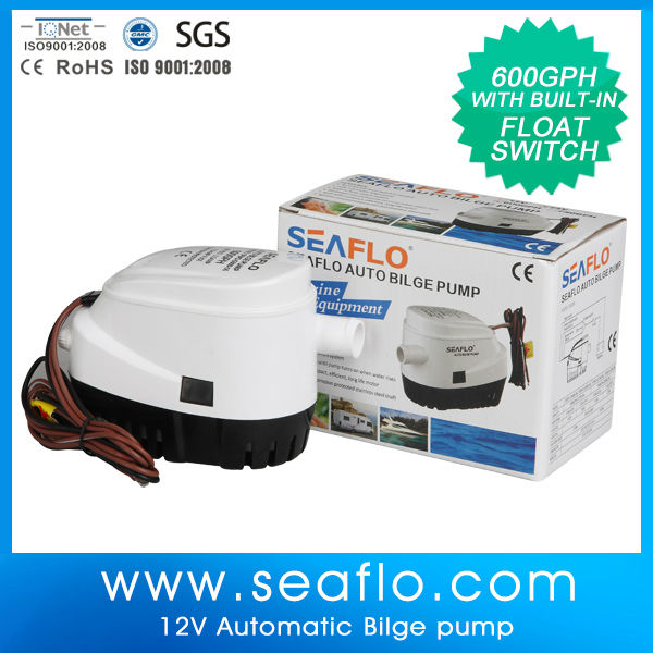 SEAFLO 600GPH flow rate auto bilge pump electric marine water pump