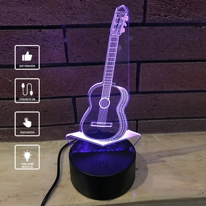 7 Color Touchable Switch Customized 3D LED Light Optical Illusion Night Lamp for Baby Gift