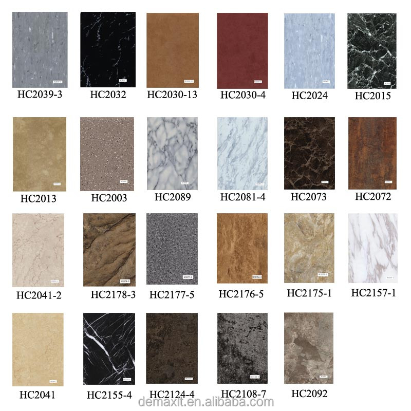 High quality high gloss non slip decorative vinyl flooring Stone flooring types