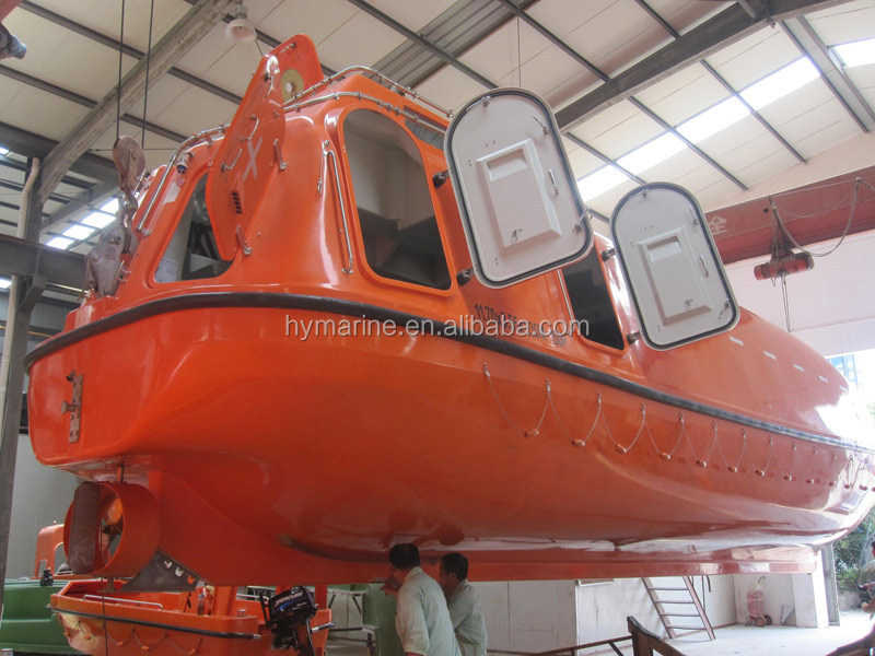 Solas Marine Life Saving Fiberglass Freefall Frp Lifeboat