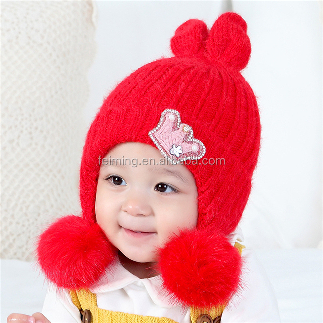 Comfortable high quality 100% cotton fabric baby cap winter hat guangzhou baby product