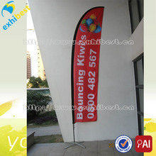 outdoor custom print teardrop flag banner/beach banner printing