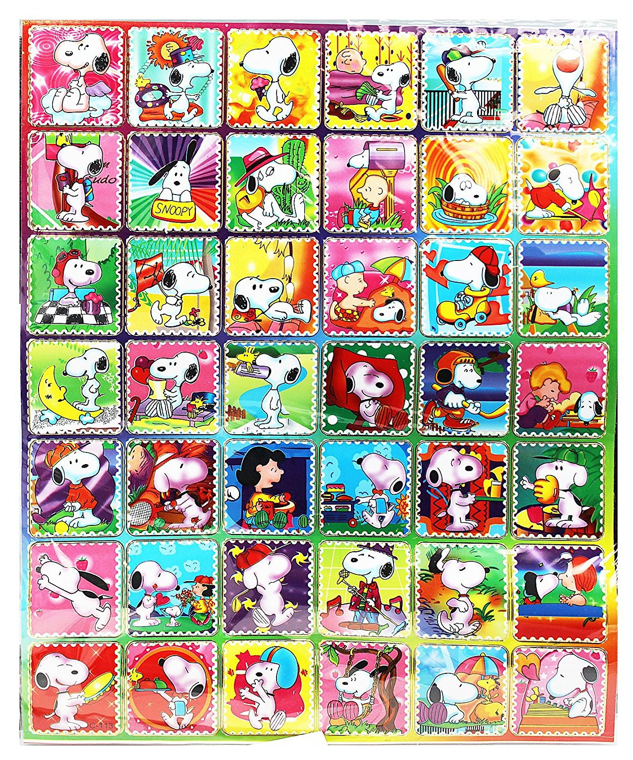 Get Quotations Snoopy Sports And Sun Faux Postage Stamp Sticker Collection 42 Stickers