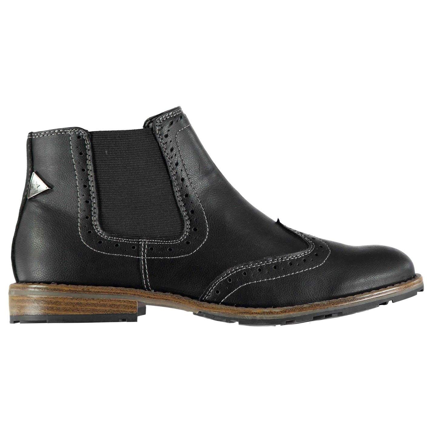a59cbbfc0 Get Quotations · Soviet Mens Chelsea Brogues Boots Shoes Slip On Slight Heel