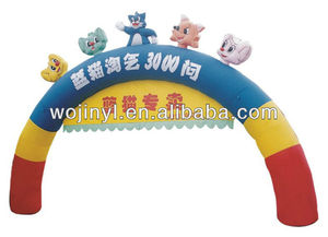 Inflatable promotional/advertising rainbow arch/door