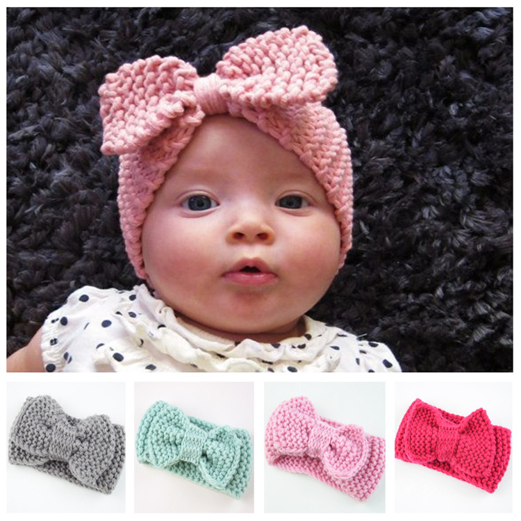 Sweet Crochet Knitted Bow Turban Headwrap Hair Band Winter Ear Warmer <strong>Headband</strong> Z0081