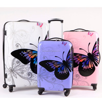 2017 Trending ABS PC Film bgas Colorful Design Travel Trolley Luggage with Cheap Price High Quality Suitcase for Holiday travel