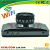 Full hd 1080p 120 degree angle G-sensor motion detect parking control CE ROHS FCC dual cam car dashboard camera