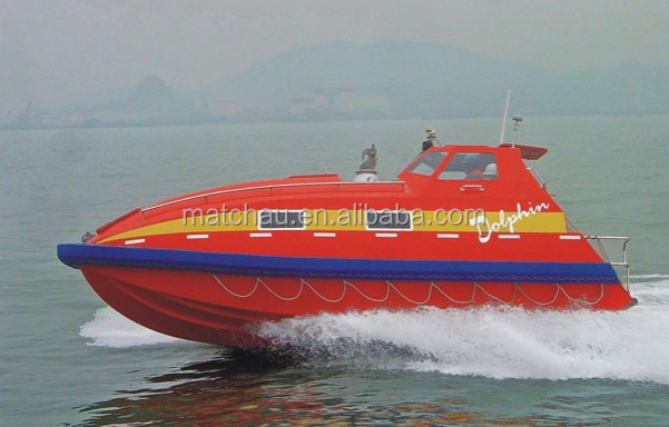SOLAS Approval Fiberglass Totally Enclosed Fast Rescue Boat
