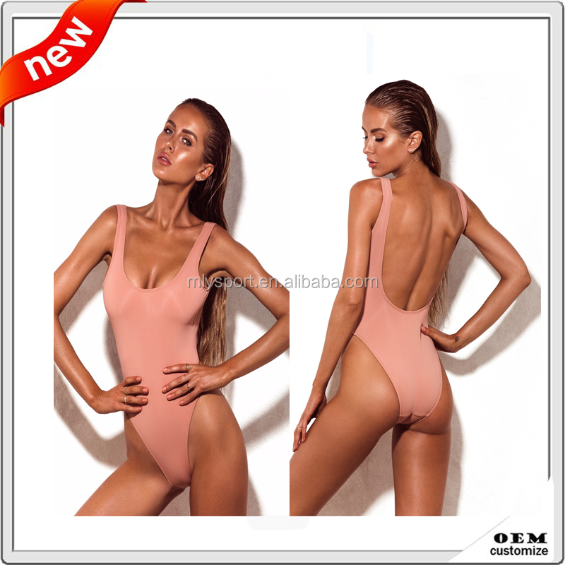 custom sexy girls high cut transparent sublimation bikini one piece swimwear